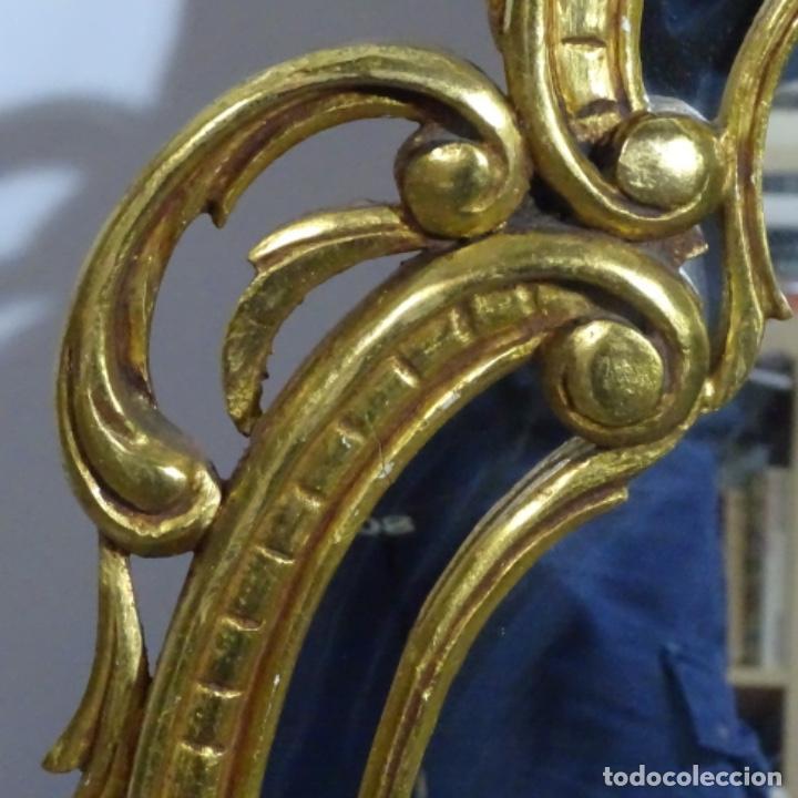 Antigüedades: Espejo cornucopia de madera. - Foto 6 - 183440076
