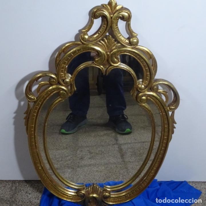 Antigüedades: Espejo cornucopia de madera. - Foto 7 - 183440076