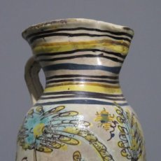 Antigüedades: ANTIGUA JARRA VINATERA DE CERAMICA. PUENTE DEL ARZOBISPO. SERIE PINO. SIGLO XVIII. Lote 183440530