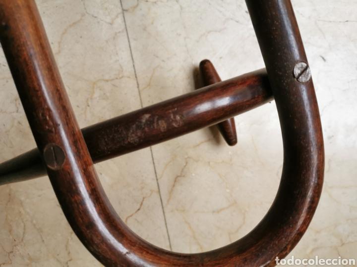 Antigüedades: PERCHERO DE PARED TIPO THONET DE MADERA CURVADA DE 4 BRAZOS - Foto 10 - 183443648