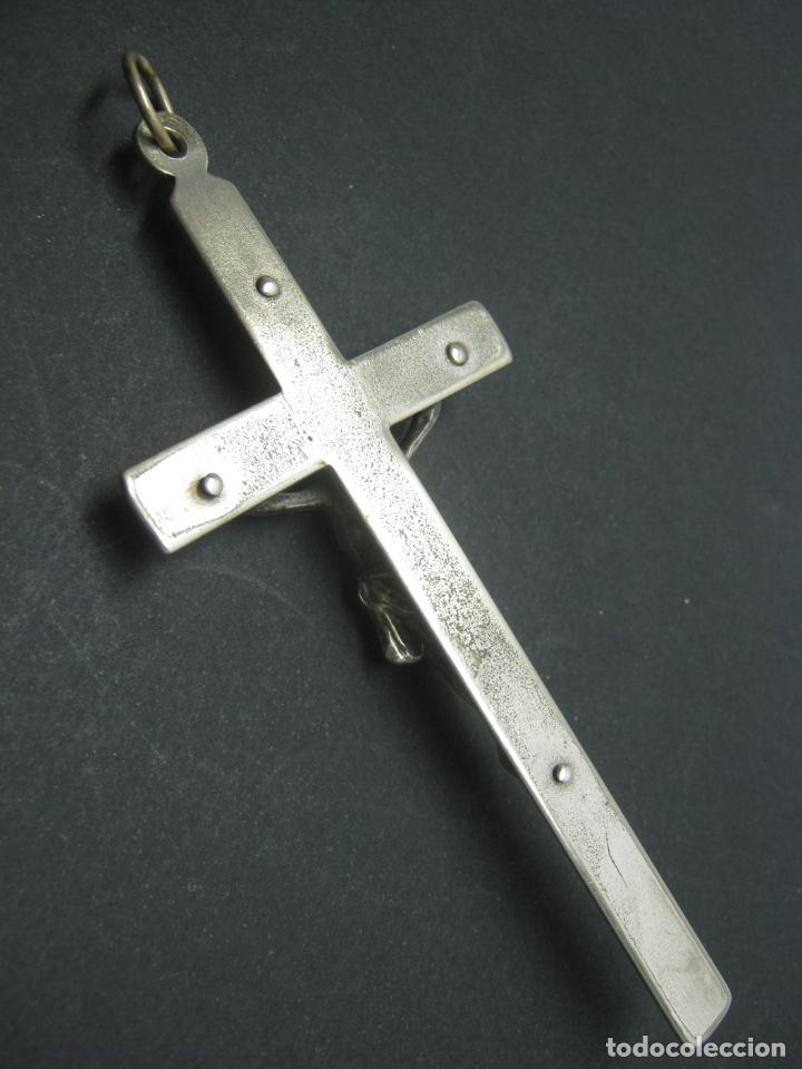 Antigüedades: Imponente Crucifijo antiguo para colgar - Foto 3 - 183459407