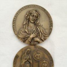 Antigüedades: ANTIGUOS MEDALLONES VIRGEN EN BRONCE.. Lote 183464233