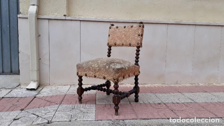 Antigüedades: Cama antigua portuguesa estilo Luis XIII barroco gótico o renacimiento rústico cabecero antiguo - Foto 30 - 115626223