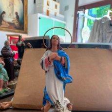 Antigüedades: IMAGEN RELIGIOSA TIPO OLOT - MEDIDA 22 CM - INMACULADA - 2. Lote 183468985