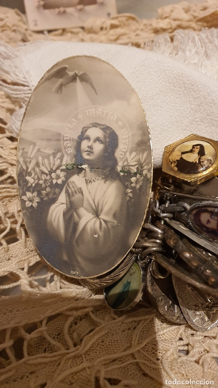 Antigüedades: Lote religióso, todo lo que se ve en las fotografías - Foto 3 - 183475253