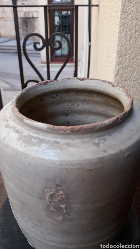 Antigüedades: TARRO CERAMICA FAJALAUZA O TRIANA S- XIX - Foto 4 - 182939828