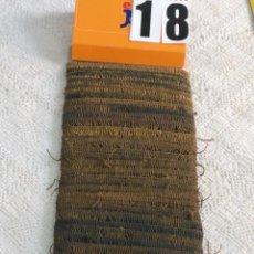 Antigüedades: ANTIGUOS FLECOS HILO ORO 10,80 METROS METAL . IDEAL VIRGEN SAYA SEMANA SANTA MANTO. Lote 183480147