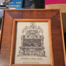 Antigüedades: RELIQUIA SAN PASCUAL. TOCADA SEPULCRO. 20CMX15CM.. Lote 183480505