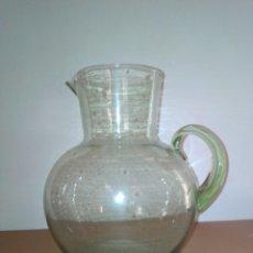 Antigüedades: ANTIGUA JARRA GRANDE DE CRISTAL SOPLADO. Lote 183487973