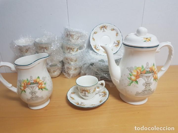 JUEGO DE CAFE - SAN CLAUDIO - MODELO PROVENZAL - SIN ESTRENAR!!!!! (Antigüedades - Porcelanas y Cerámicas - San Claudio)