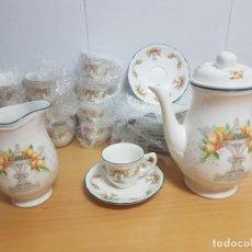 Antigüedades: JUEGO DE CAFE - SAN CLAUDIO - MODELO PROVENZAL - SIN ESTRENAR!!!!!. Lote 183492431