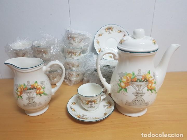 Antigüedades: JUEGO DE CAFE - SAN CLAUDIO - MODELO PROVENZAL - SIN ESTRENAR!!!!! - Foto 2 - 183492431