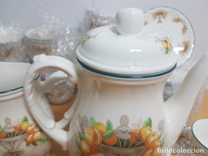 Antigüedades: JUEGO DE CAFE - SAN CLAUDIO - MODELO PROVENZAL - SIN ESTRENAR!!!!! - Foto 4 - 183492431