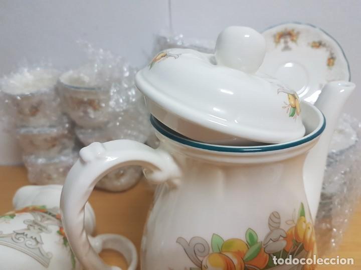 Antigüedades: JUEGO DE CAFE - SAN CLAUDIO - MODELO PROVENZAL - SIN ESTRENAR!!!!! - Foto 11 - 183492431