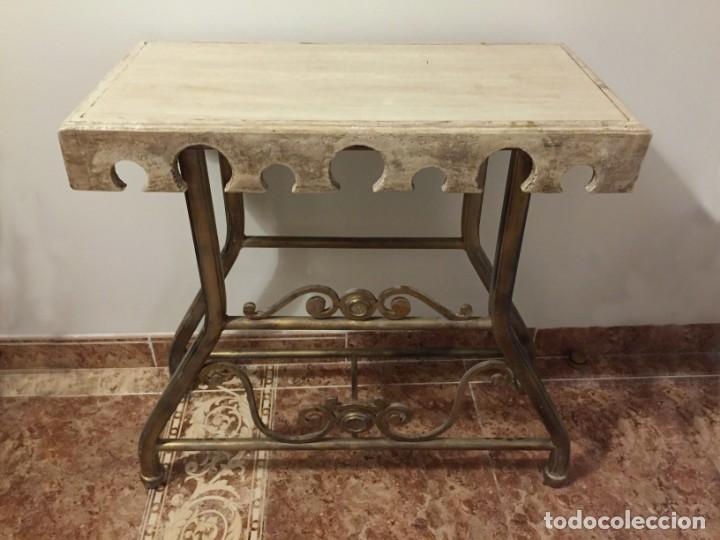 Antigüedades: Mesa auxiliar rústica - Foto 3 - 183501156