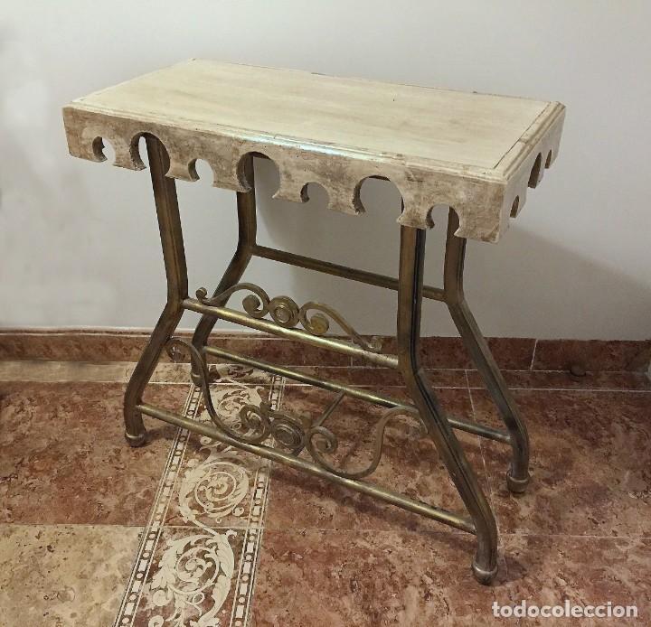 Antigüedades: Mesa auxiliar rústica - Foto 4 - 183501156