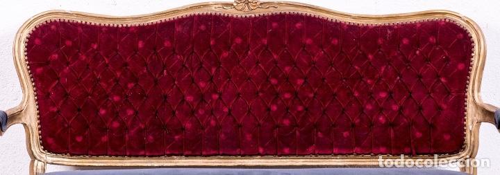 Antigüedades: Sofá Francés Antiguo Estilo Luis XV - Foto 7 - 168678656