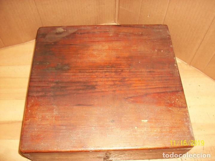 Antigüedades: ANTIGUA CAJA DE MADERA - Foto 2 - 183513286