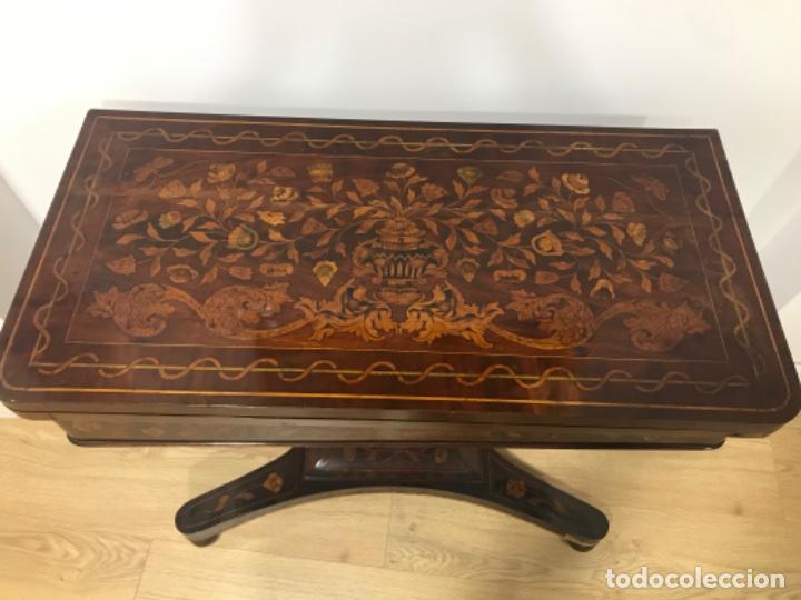 Antigüedades: Mesa holandesa de juegos - Foto 2 - 183521906