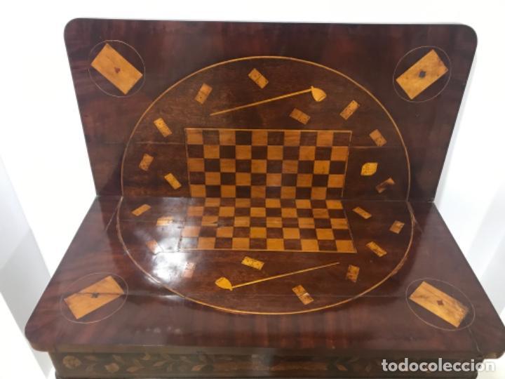 Antigüedades: Mesa holandesa de juegos - Foto 4 - 183521906