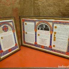 Antigüedades: ANTIGUAS SACRAS O TRIPTICO EN PRECIOSO MARCO. IDEAL PARA ALTAR. LEER MAS. Lote 183525501