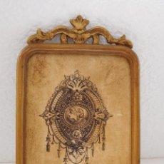 Antigüedades: MARCO DE MADERA CON COPETE. VER FOTOS.. Lote 183525900