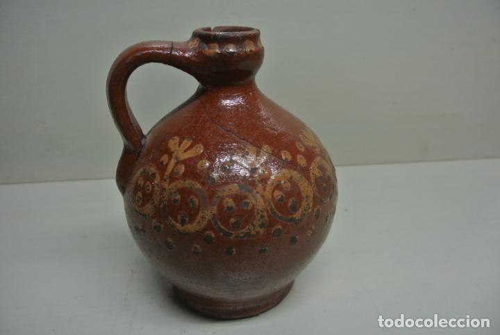 Antigüedades: Antigua aceitera, Vasija para aceite. Cerámica popular Catalána - Foto 2 - 183526742
