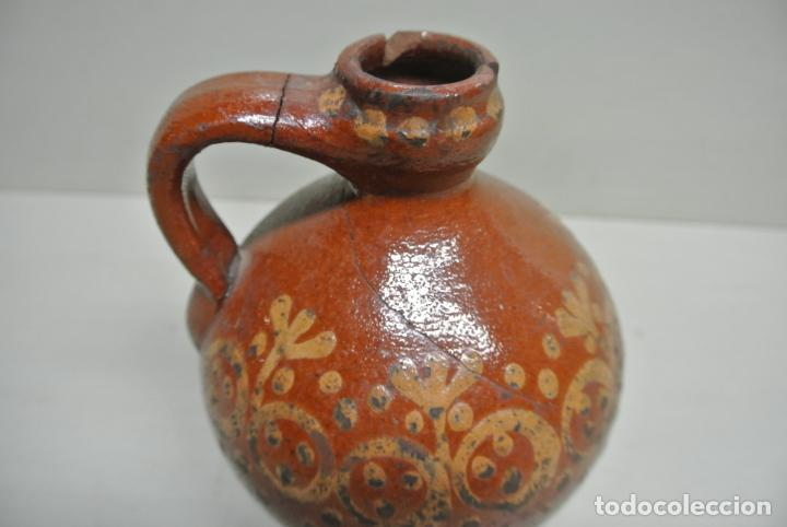 Antigüedades: Antigua aceitera, Vasija para aceite. Cerámica popular Catalána - Foto 3 - 183526742
