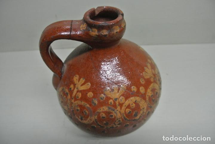 Antigüedades: Antigua aceitera, Vasija para aceite. Cerámica popular Catalána - Foto 5 - 183526742