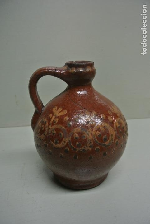 Antigüedades: Antigua aceitera, Vasija para aceite. Cerámica popular Catalána - Foto 8 - 183526742