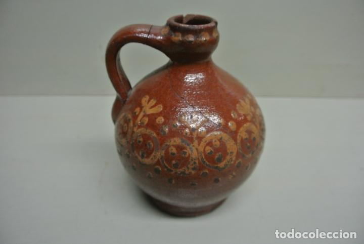 ANTIGUA ACEITERA, VASIJA PARA ACEITE. CERÁMICA POPULAR CATALÁNA (Antigüedades - Porcelanas y Cerámicas - Catalana)