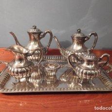 Antigüedades: JUEGO DE CAFE O TE PRECIOSO Y ANTIGUO - JOYERÍA MALDE. Lote 183526883