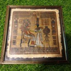 Antigüedades: CUADRO PAPEL ARROZ EGIPCIO. Lote 183530446