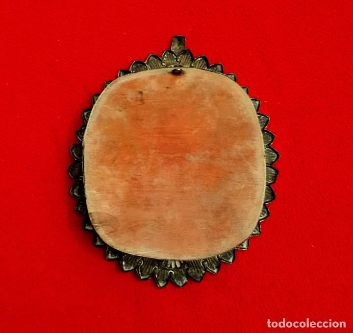 Antigüedades: ANTIGUO RELICARIO DE ALPACA REPUJADA VIRGEN INMACULADA. - Foto 4 - 183531236