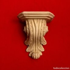 Antigüedades: MÉNSULA - PEANA EN MADERA TALLADA - 33 X 28 CM. Lote 183531482