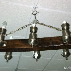 Antigüedades: LAMPARA DE MADERA. Lote 50018580