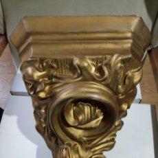 Antigüedades: PEANA MENSULA ESTUCO Y MADERA. Lote 183544355