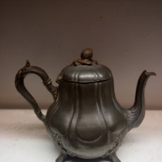 Antigüedades: CAFETERA DE ESTAÑO SXIX. Lote 183549890