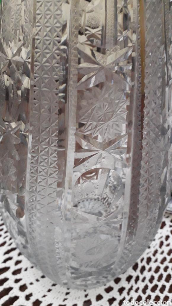 Antigüedades: Precioso Jarrón vintage de cristal tallado de Baccarat - Foto 2 - 183550967