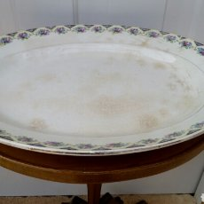 Antigüedades: BANDEJA PICKMAN DE PORCELANA - SIGLO XIX SELLO VERDE. Lote 183558300
