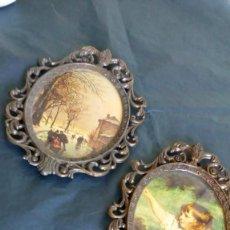 Antigüedades: DOS MARCOS DE METAL ´MADE IN ITALY´. Lote 183559393