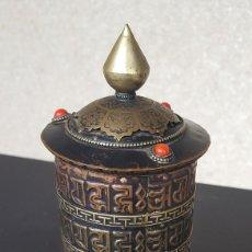 Antigüedades: RUEDA DE ORACIÓN TIBETANA. Lote 183570345