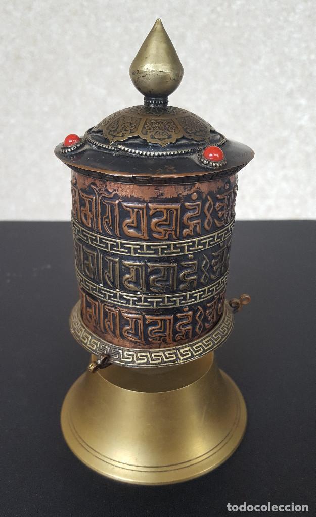 Antigüedades: Rueda de oración tibetana - Foto 2 - 183570345