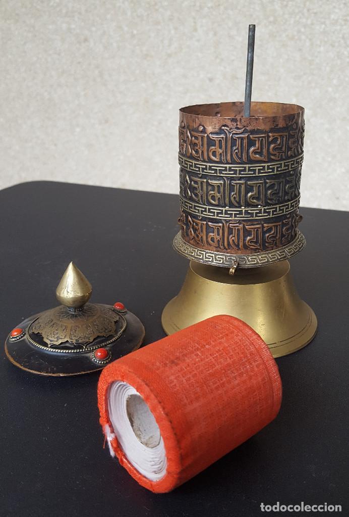 Antigüedades: Rueda de oración tibetana - Foto 6 - 183570345