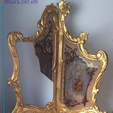 Antigüedades: LOUIS XVI,BIOMBO DE ÉPOCA ,CON CRISTALES PÌNTADOS ,LOUIS XVI . Lote 183573930