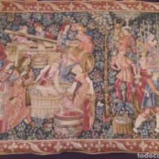 Antigüedades: TAPIZ - FIESTA DE LA VENDIMIA- OBRA ORIGINAL CREADA POR ALEXANDRE BABIN. Lote 183577306