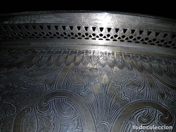 Antigüedades: Bandeja plateada grabada Sheffield - Foto 11 - 183577321