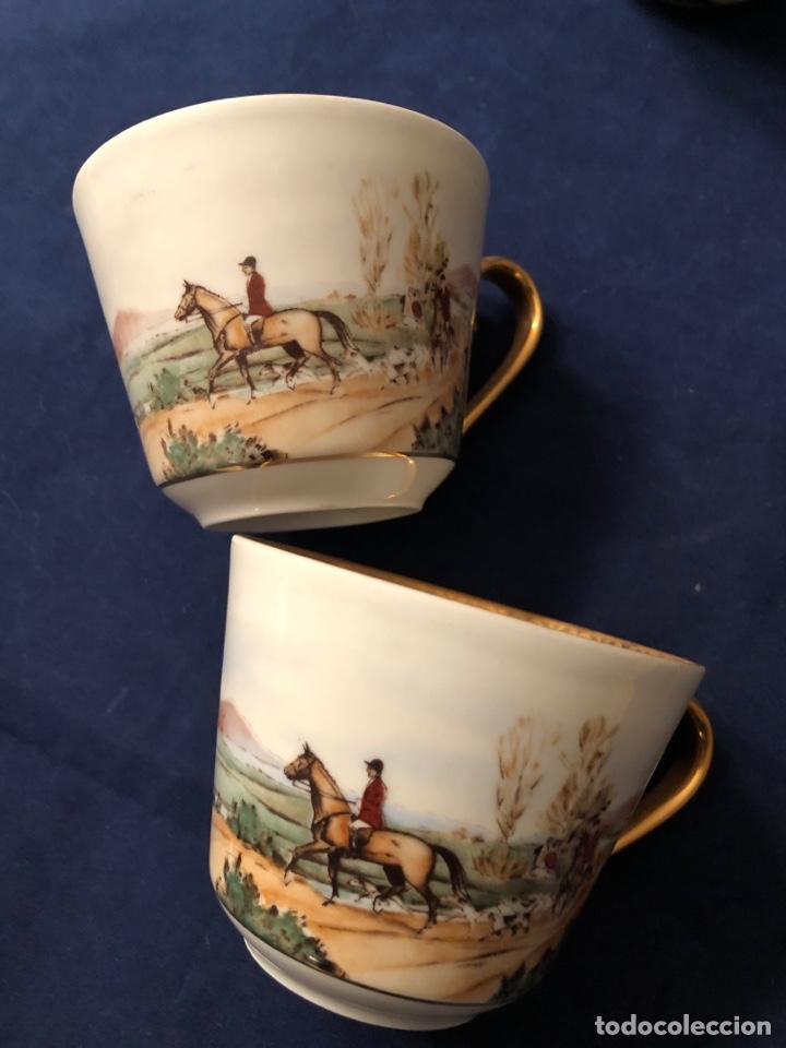 Antigüedades: 5 tazas de café de porcelana Fina francesa LIMOGES - Foto 2 - 183601411