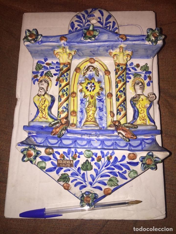 ANTIGUA BENDITERA DE CERÁMICA EN MUY BUEN ESTADO. (Antigüedades - Religiosas - Benditeras)