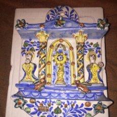 Antigüedades: ANTIGUA BENDITERA DE CERÁMICA EN MUY BUEN ESTADO.. Lote 173218039